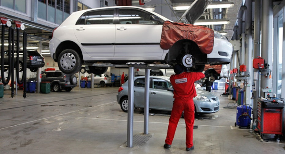 Car Undergoing Maintenance