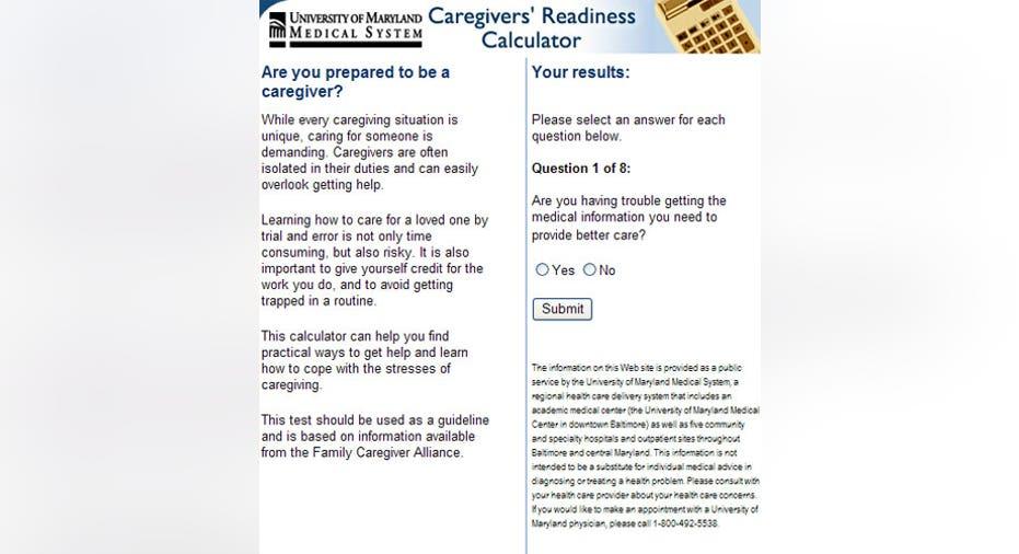 Caregiver Readiness Clculator, PF Slideshow