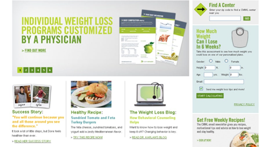 Center Medical Weight Loss Homepage, PF Slideshow