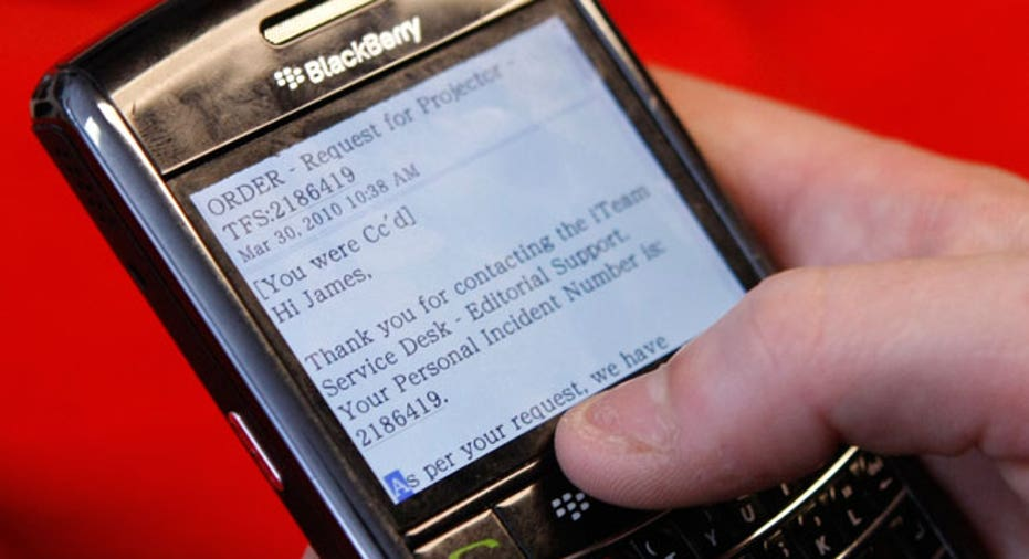 Checking Email on BlackBerry Smartphone