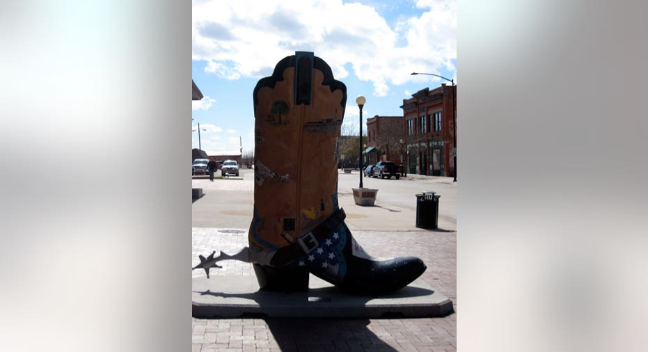 Cowboy Boot in Cheyenne, Wyoming, Reuters