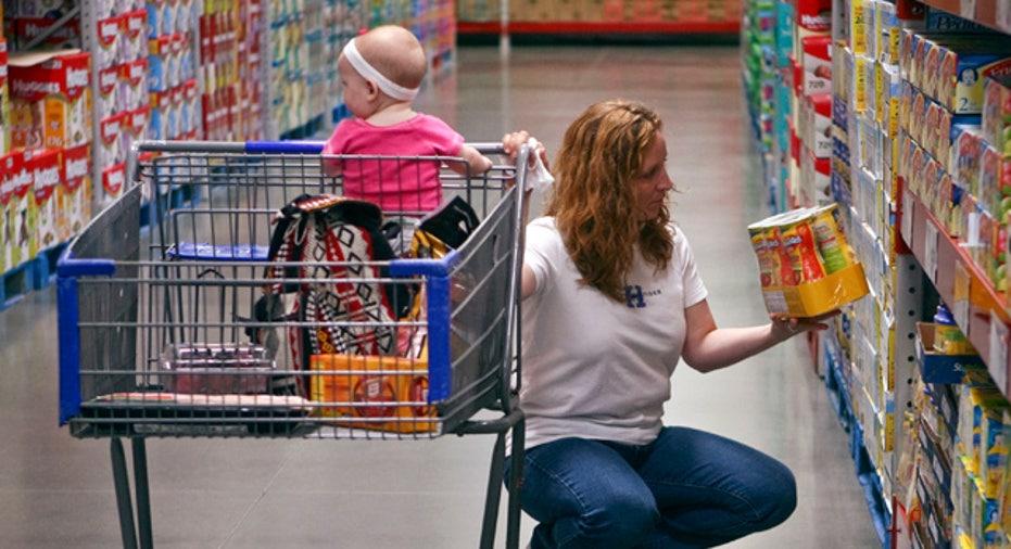 Customer Shopping at Wholesale Store
