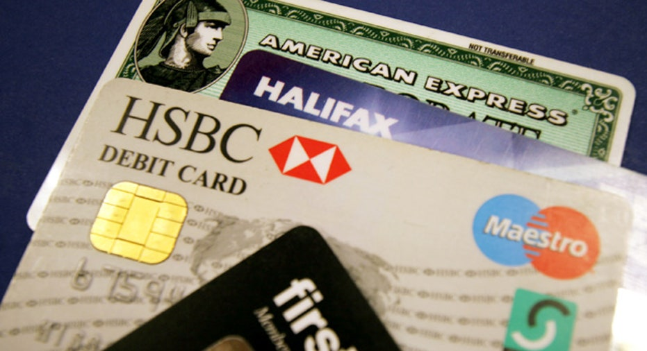 Stack of Credit and Debit Cards