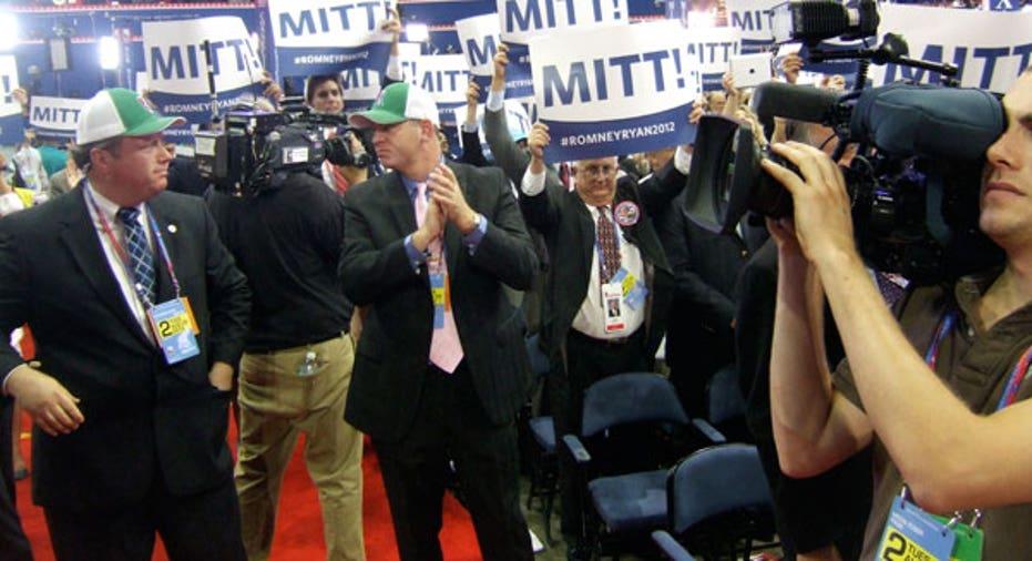 Delegates cheering