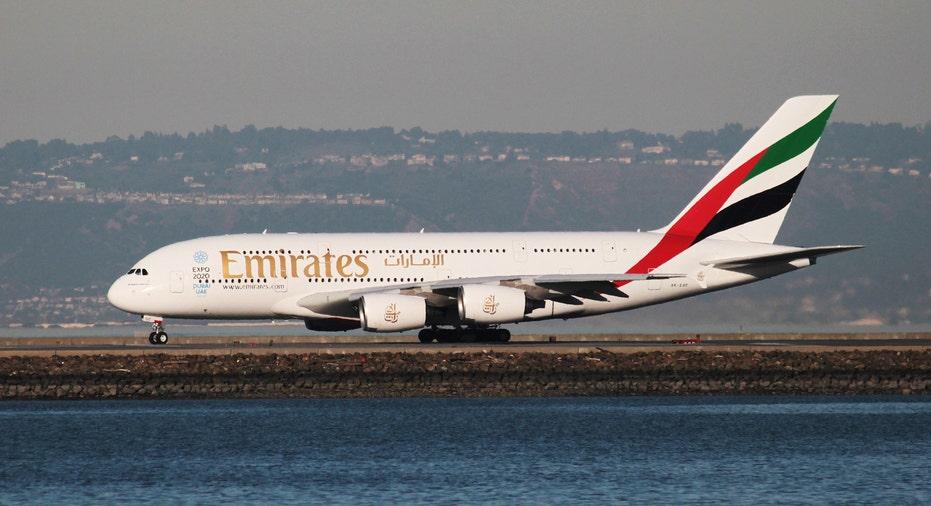 Emirates Airbus A380 San Francisco RTR FBN