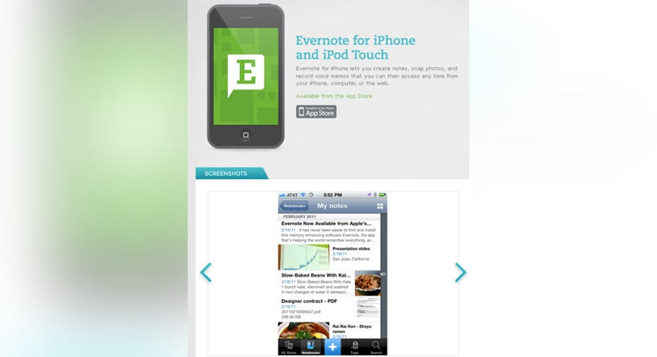 College Evernote App, PF Slideshow