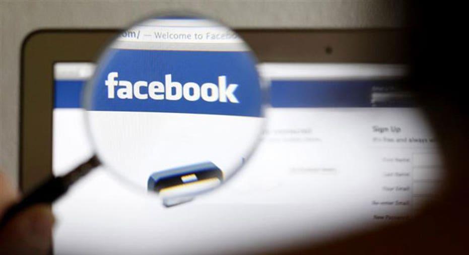 Facebook Logo Computer Magnified