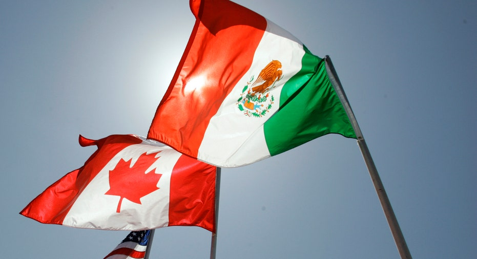 Flags of Mexico, Canada, US AP FBN