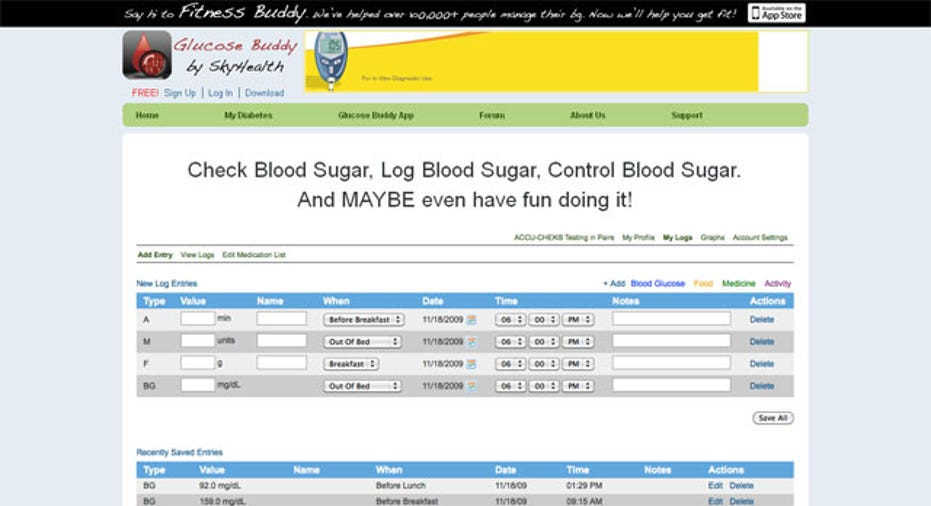 Glucose Buddy App, PF Slideshow