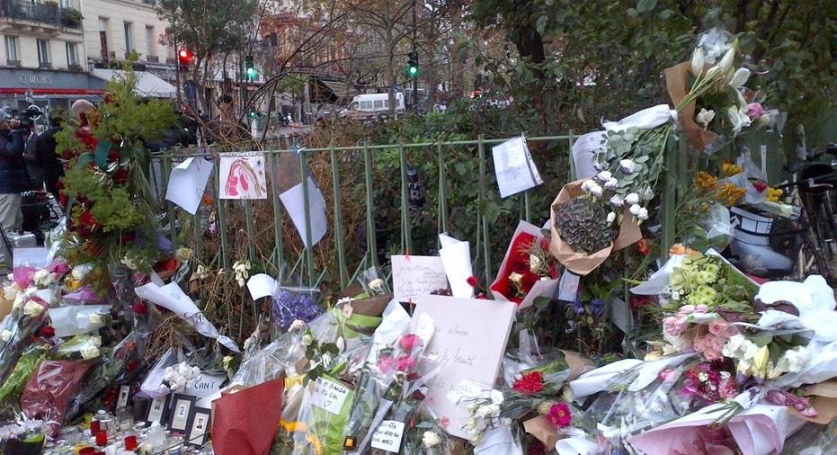 Makeshift Memorial Near Bataclan Theatre, Paris, 2