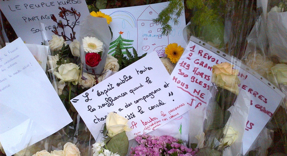 Makeshift Memorial Near Bataclan Theatre, Paris, 5