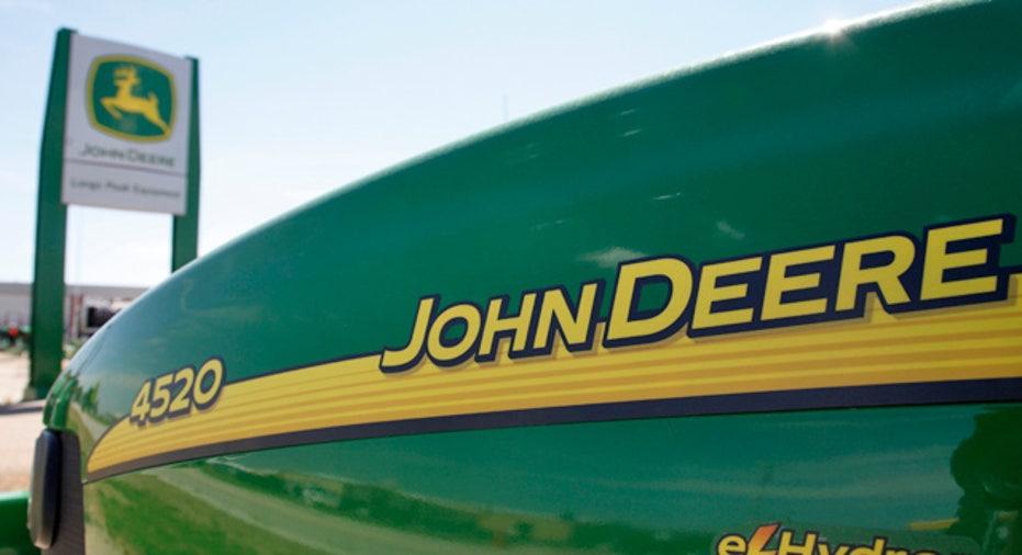 John Deere Logo on a Tractor