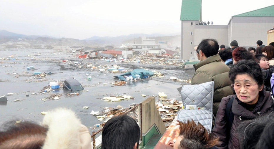 Kesennuma City Flooded Streets