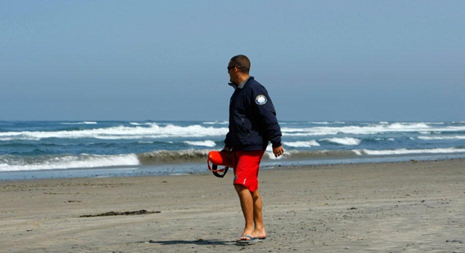 Lifeguard at Empty Beach
