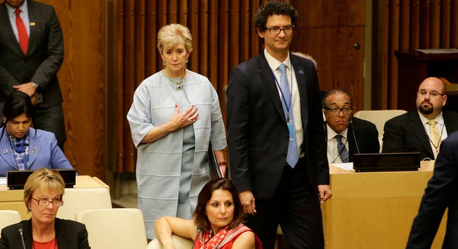 Linda McMahon at UN AP FBN