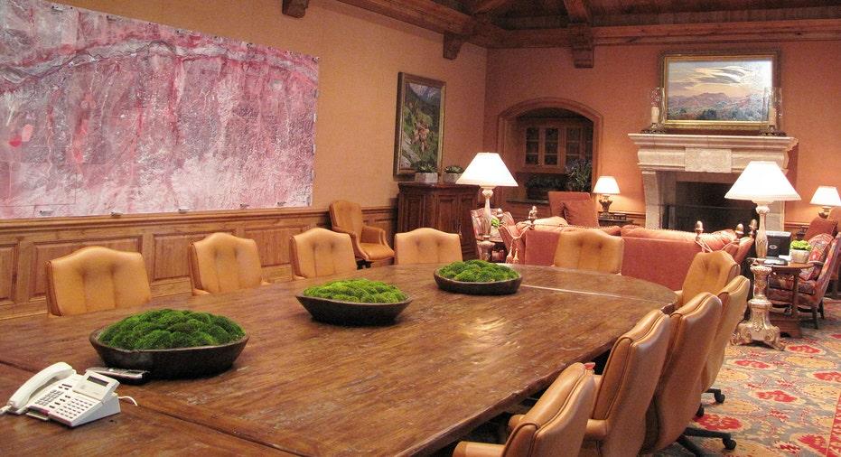 A conference room at the Mesa Vista Ranch