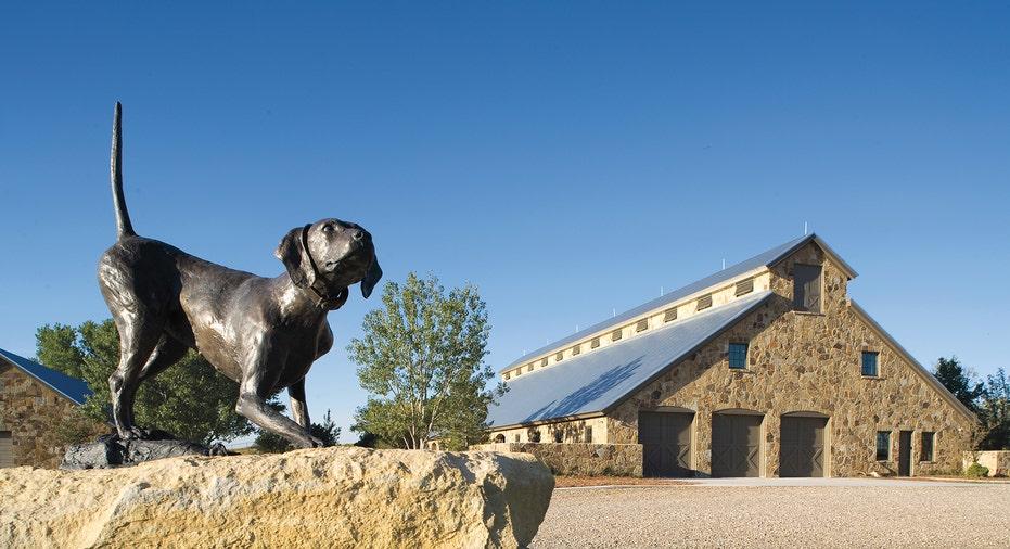 A barn at the Mesa Vista Ranch