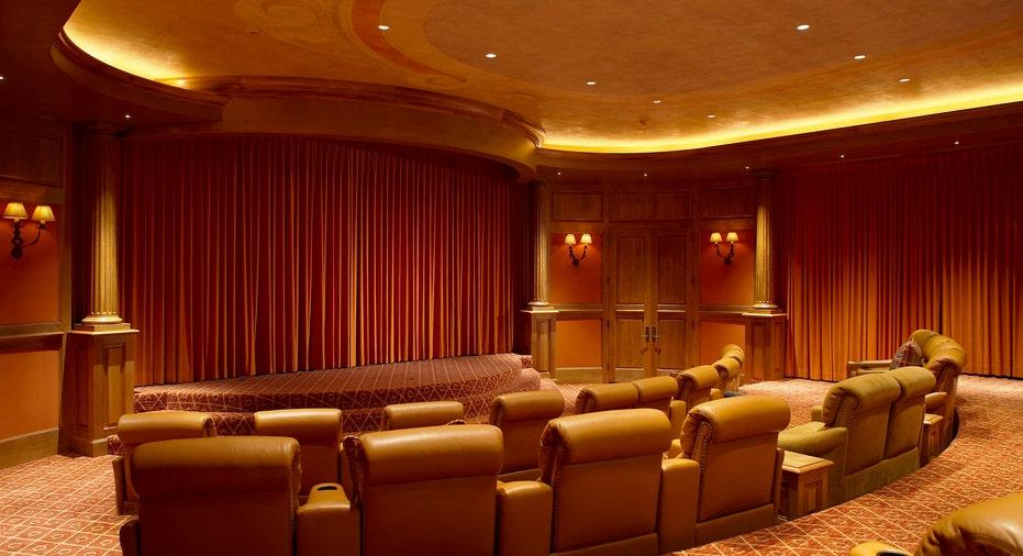 Home theater at the Mesa Vista Ranch