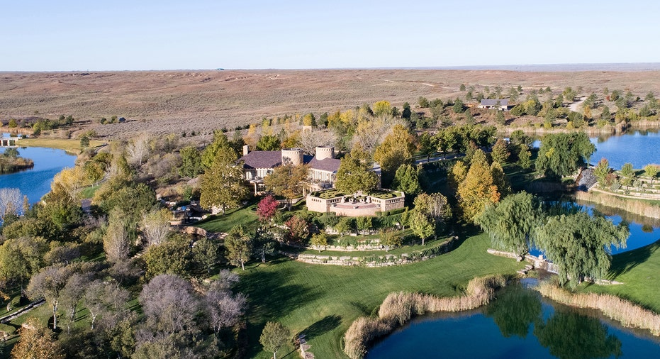 An aerial view of the Mesa Vista Ranch