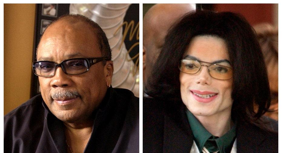 Michael Jackson and Quincy Jones AP FBN