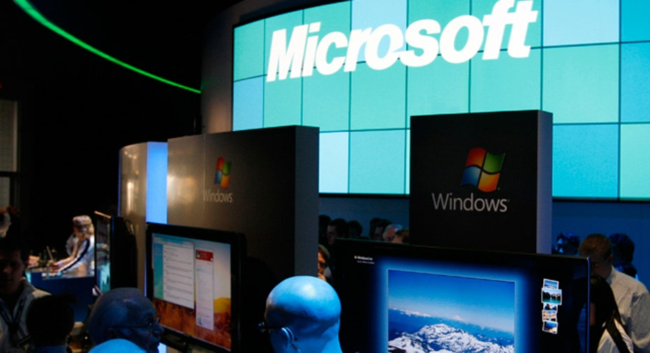 Microsoft Booth at CES Reuters