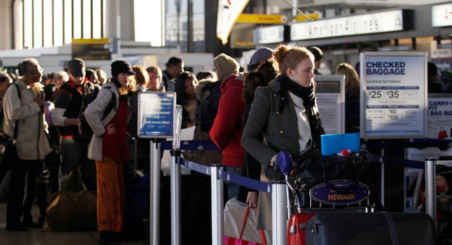 Passengers at Newark Liberty Airport