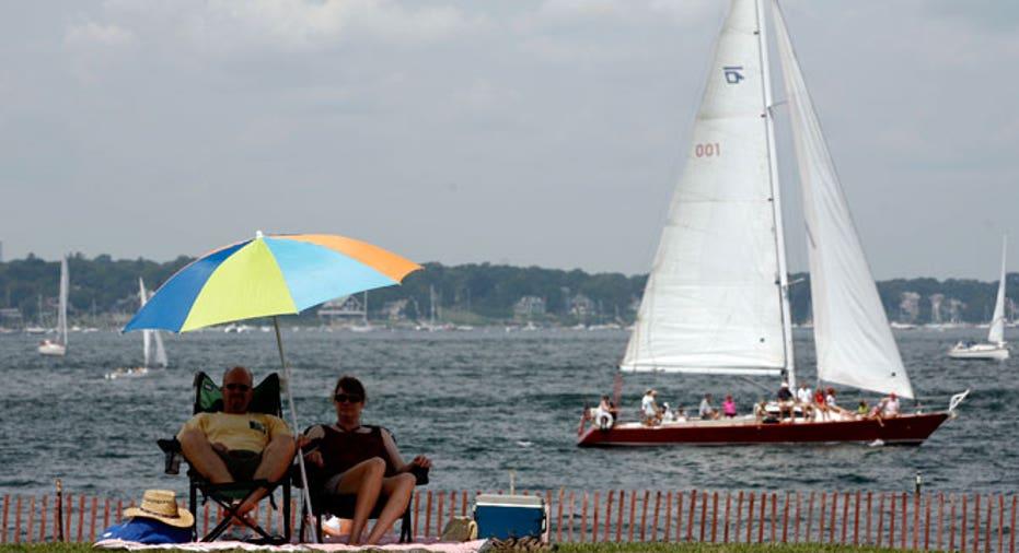 Newport, Rhode Island, Sailing, beach, sand Sailboat