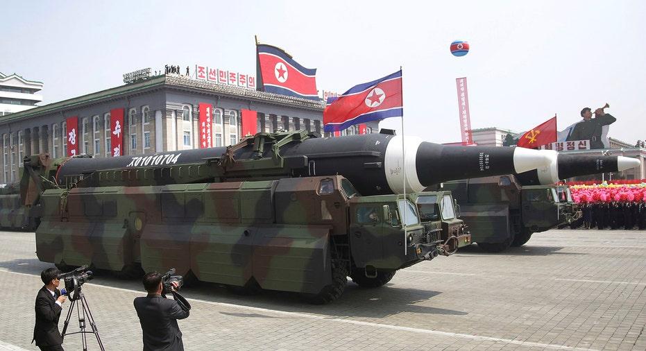 North Korea Missile Parade AP FBN