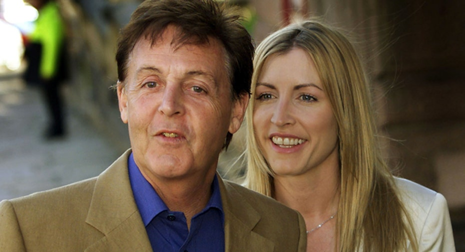 File Photo of Paul McCartney & Heather Mills Reuters