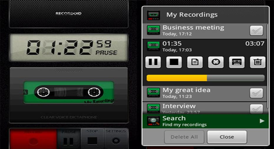 Recordoid-Dictaphone-Lite App