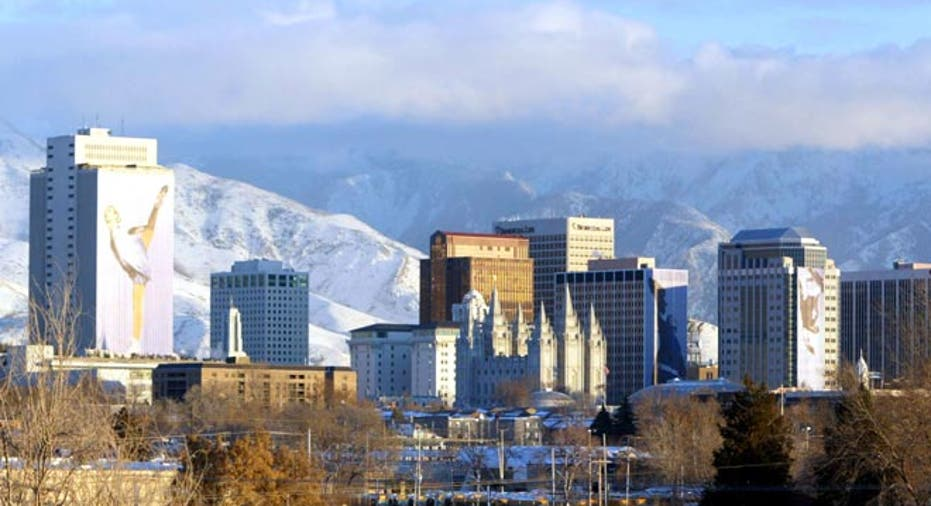 Salt Lake City, Utah, downtown Salt Lake City
