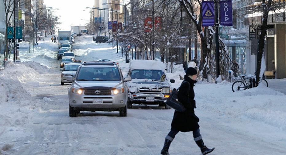Snow Filled Downtown Washington