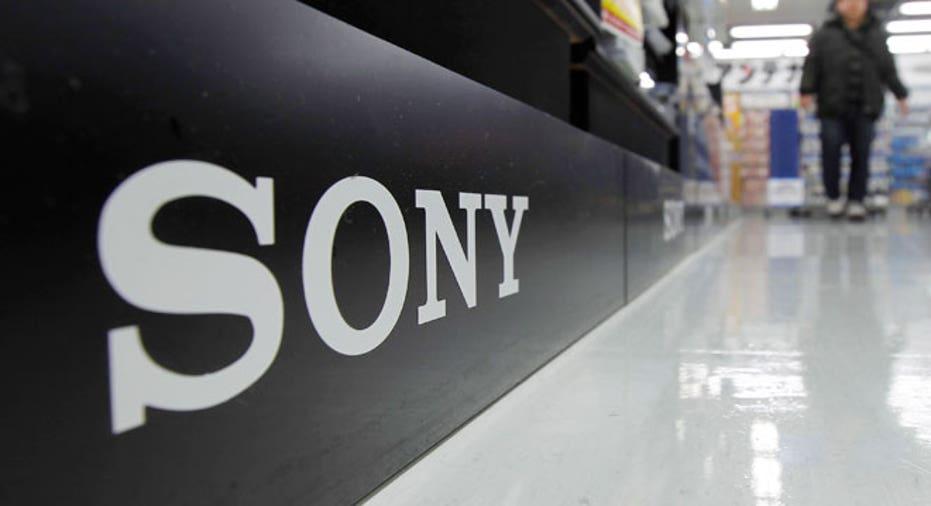 Sony Logo at Electronics Store