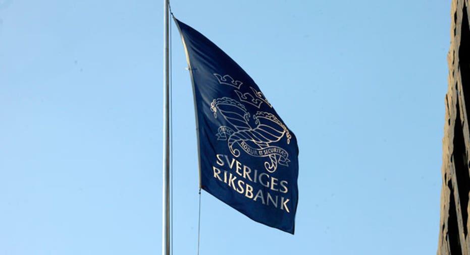 Sweden Central Bank Flag