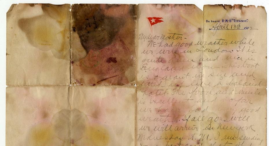 Titanic Letter Auction 2017 AP FBN