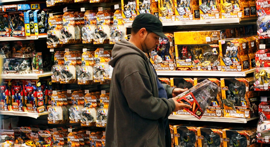 Man Shopping for Toys