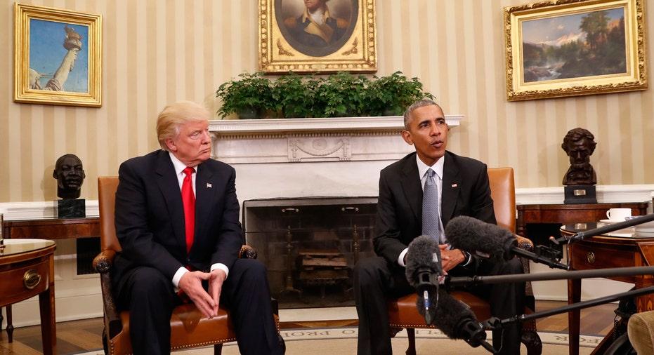 Trump Obama White House AP