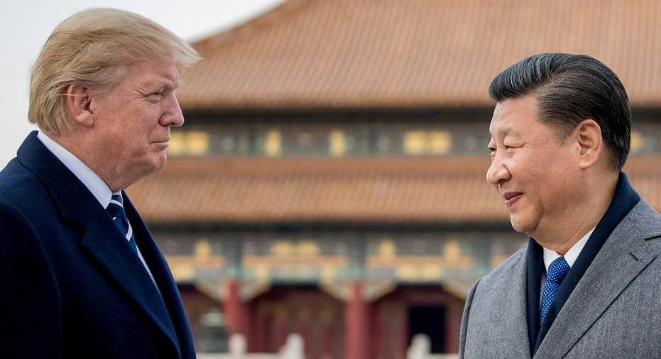 Trump Xi Jinping in China 2017 AP FBN