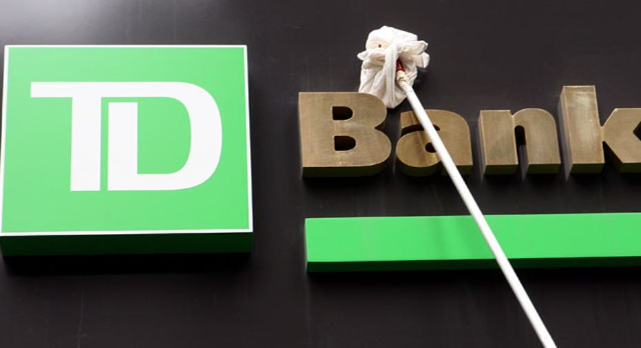 Window Washer Cleans TD Bank Sign