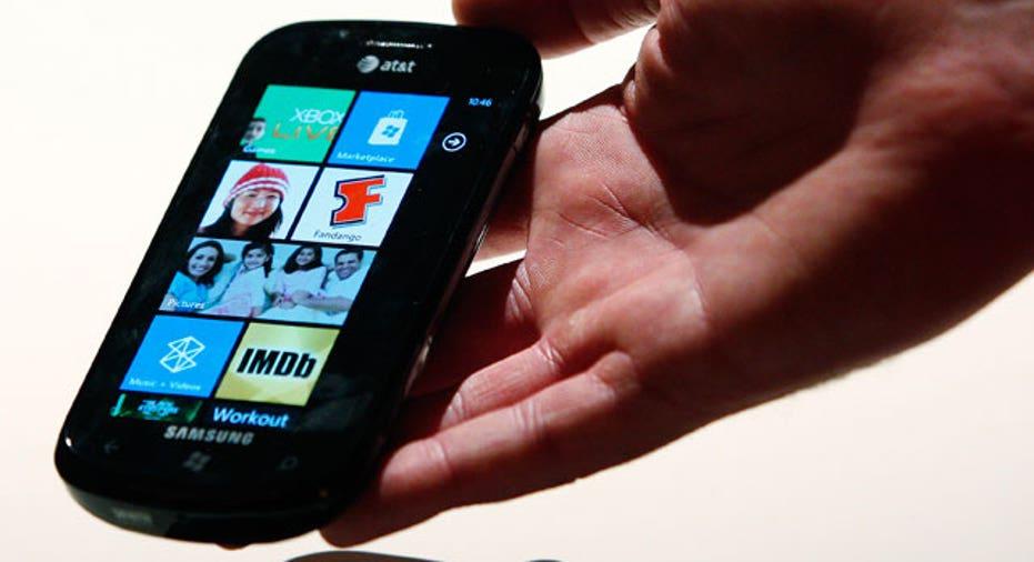 Windows Phone 7 Samsung Device in Hand