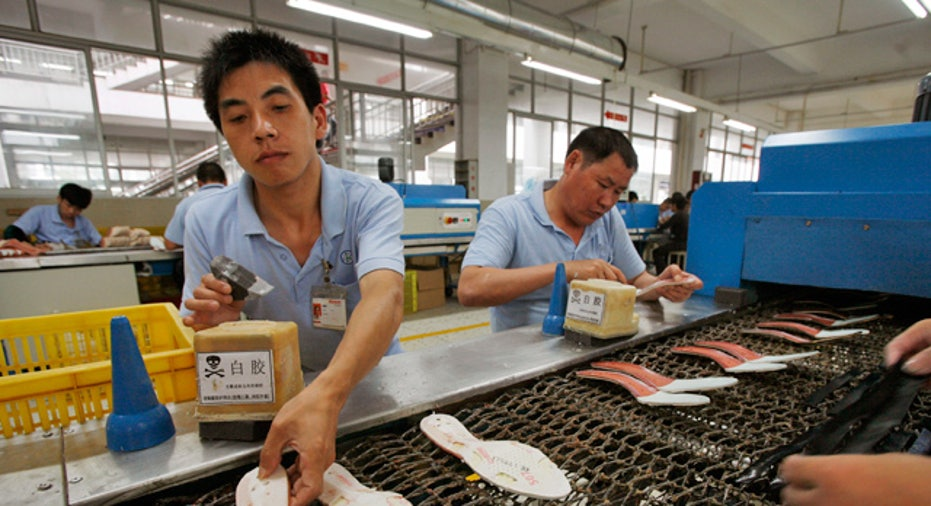 Workers in Chinese Factory
