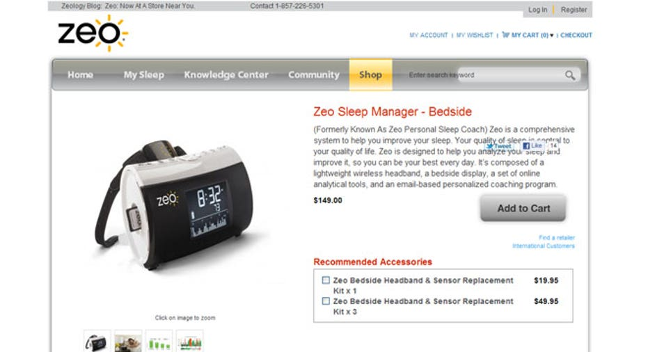 Zeo Sleep Manager, PF Slideshow