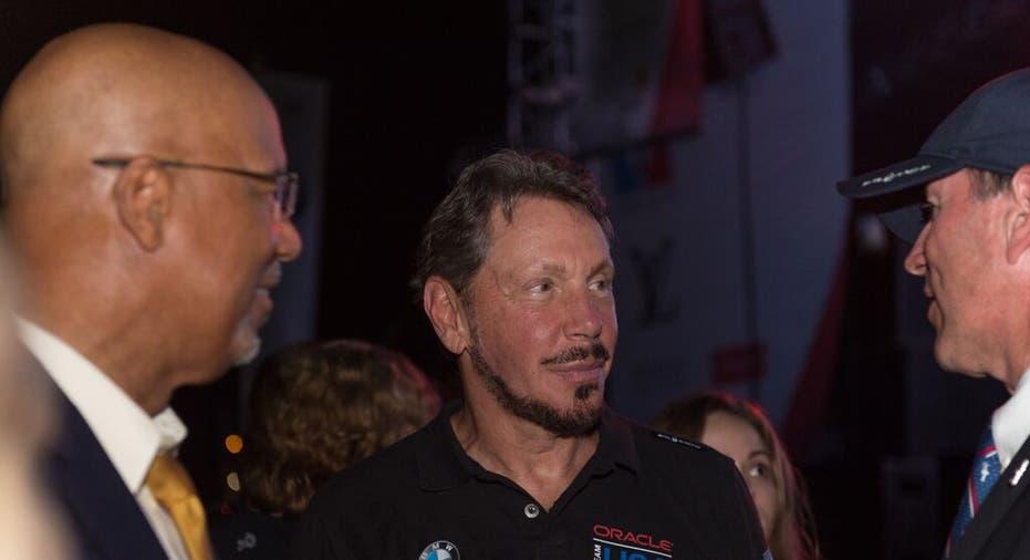 Oracle CEO Larry Ellison Helps Defend World Title