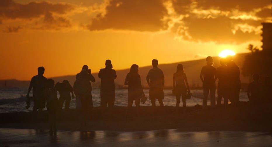 Hawaii, beach, Waikiki Beach, sun set, vacation