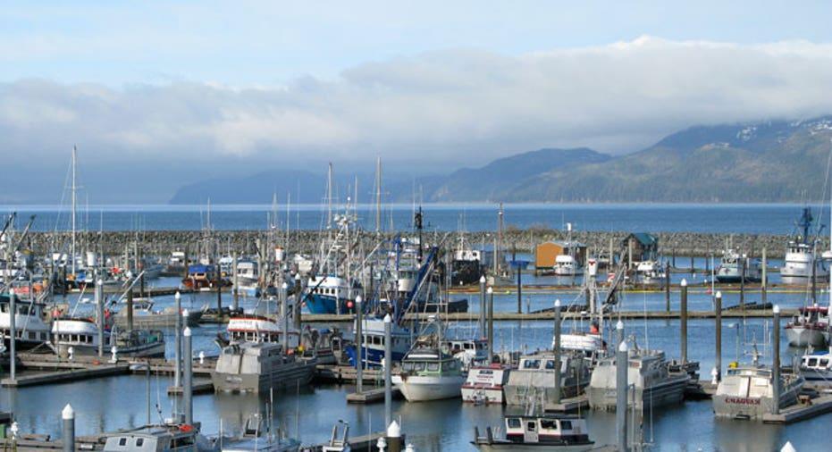 Cordova, Alaska, harbor, boats