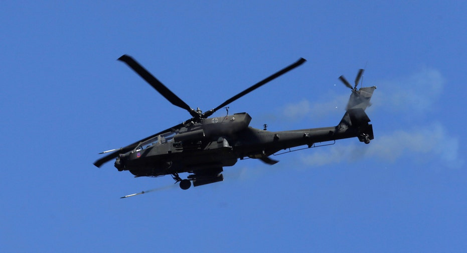 Boeing Apache helicopter firing FBN
