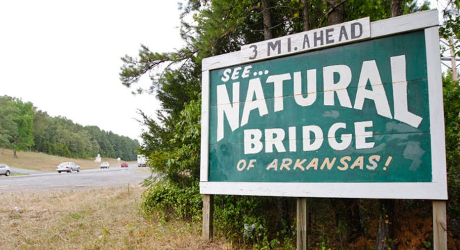 Natural Bridge of Arkansas, Arkansas, Highway 65