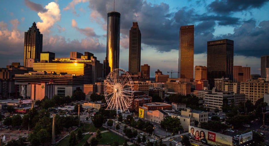 Atlanta, Gerogia, city, skyline, ferris wheel
