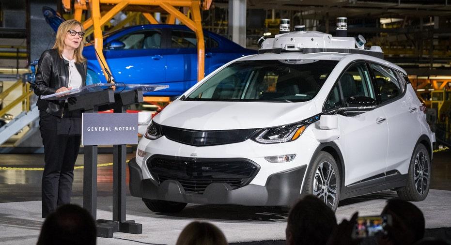 Chevrolet Bolt driverless car GM CEO Mary Barra FBN