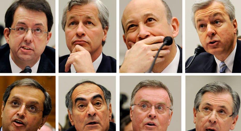 Bank Executives Collage
